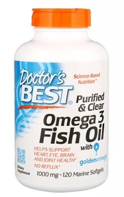 Doctor's Best Omega-3 fish oil 1000 mg 120 capsules / Доктор`с Бест омега 3 Рибено масло 1000 мг 120 капсули