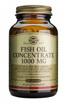 Fish oil concentrate 1000 mg 60 capsules Solgar / Рибено масло 1000 мг. 60 капсули Солгар