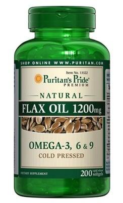 Puritan's Pride flax oil Omega 3-6-9 1200 mg 200 capsules / Пуританс Прайд Ленено масло Омега 3-6-9 1200 мг. 200 капсули