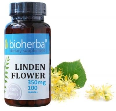 Bioherba Linden flower 350 mg 100 capsules / Биохерба Липа цвят 350 мг. 100 капсули