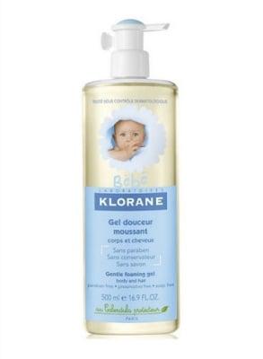 Klorane baby gentle foaming gel body and hair with calendula extrakt 500 ml / Клоран нежен бебешки душ гел за коса и тяло с екстракт от невен 500 мл