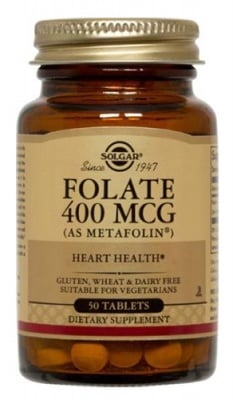 Folate 400 mcg 50 tablets Solgar / Фолат 400 мкг. 50 таблетки Солгар
