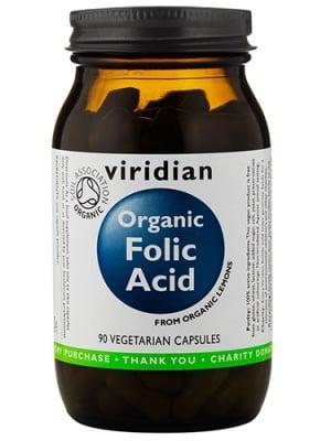 Organic folic acid 400 mg 90 capsules Viridian / Фолиева киселина органик 400 мг. 90 капсули Виридиан