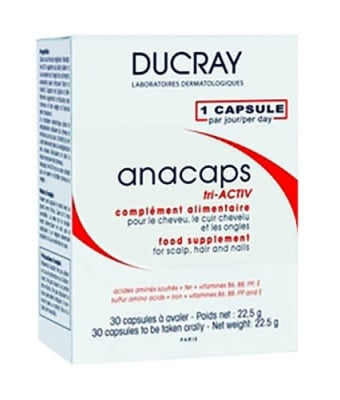 Ducray Anacaps hair and nails 30 capsules / Дюкре Анакапс за коса и нокти 30 капсули