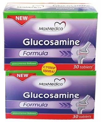 Maxmedica glucosamine 30 tablets 2 pcs. / Максмедика Глюкозамин формула 2 броя опаковки по 30 таблетки