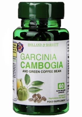 Garcinia Cambogia and green coffee bean 60 capsules Holland & Barrett / Гарциния камбоджа и зелено кафе 60 капсули Holland & Barrett