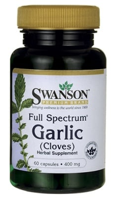 Swanson Full spectrum garlic 400 mg 60 capsules / Суонсън Чесън фул спектрум 400 мг. 60 капсули