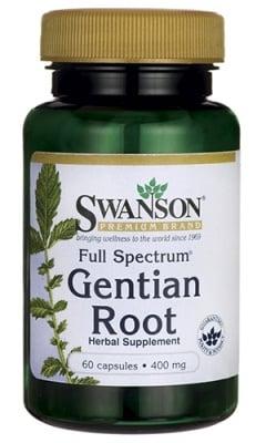 Swanson Full spectrum gentian root 400 mg 60 capsules / Суонсън Жълта тинтява пълен спектрум 400 мг. 60 капсули