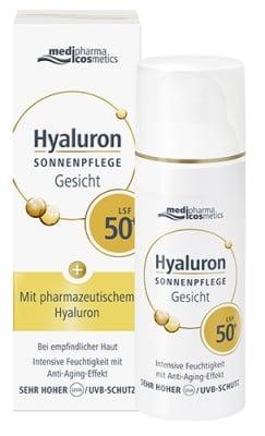 Pharma Hyaluron face cream SPF50 with pharmaceutical grade hyaluronic acid 50 ml. / Фарма Хиалурон крем за лице SPF50 с фармацевтичен клас хиалуронова киселина 50 мл.
