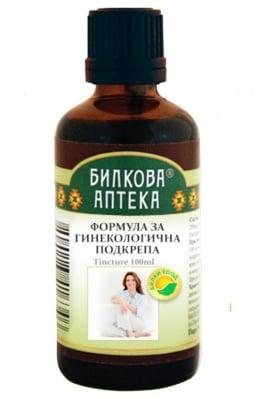 Tincture Formula for Gynecological Support 100 ml. Herbal Pharmacy / Тинктура Формула за Гинекологична подкрепа 100 мл. Билкова Аптека