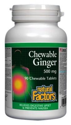 Ginger 90 chewable tablets Natural Factors / Джинджифил 90 дъвчащи таблетки Натурал Факторс