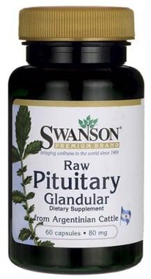 Swanson Raw Pituitary glandular 80 mg 60 capsules / Суонсън Хипофизни жлези 80 мг. 60 капсули