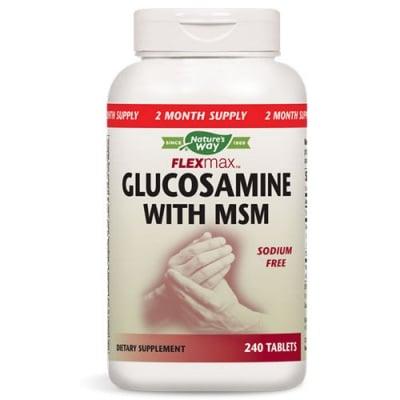 Glucosamine with MSM 875 mg. 240 tablets Nature's Way / Глюкозамин Сулфат + МСМ 240 таблетки Nature's Way