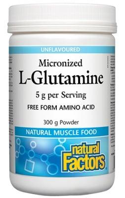 L-Glutamine powder 300 g Natural Factors / L-глутамин прах 300 гр. Натурал Факторс