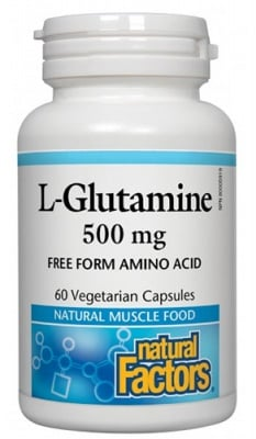L - glutamine 500 mg 60 capsules Natural Factors / L-глутамин 500 мг. 60 капсули Натурал Факторс