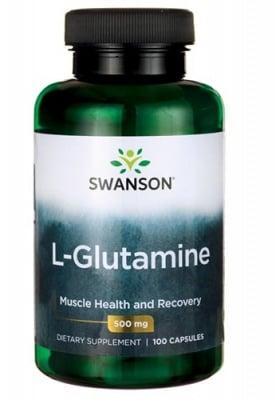 Swanson L-glutamine 500 mg 100 capsules / Суонсън L-глутамин 500 мг. 100 капсули