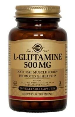 L-Glutamine 500 mg 50 capsules Solgar / L-Глутамин 500 мг. 50 капсули Солгар