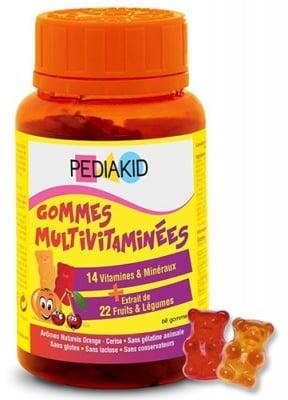 Pediakid Multivitamins 60 chewable gummies / Педиакид Мултивитамини 60 дъвчащи мечета
