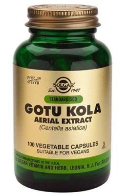 Gotu kola 100 capsules Solgar / Готу кола аериал 100 капсули Солгар