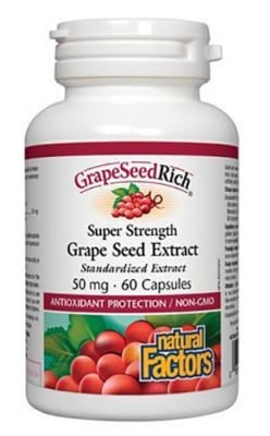 Grape seed extract 50 mg 60 capsules Natural Factors / Гроздово семе 50 мг. 60 капсули Натурал Факторс