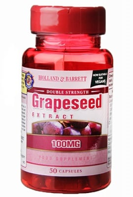 Grapeseed extract 100 mg 50 capsules Holland & Barrett / Гроздово семе екстракт 100 мг 50 капсули Holland & Barrett