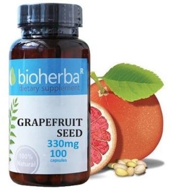 Bioherba Grapefruit seed 330 mg 100 capsules / Биохерба Семена на Грейпфрут 330 мг. 100 капсули