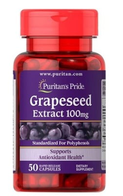 Puritan's Pride grapeseed extract 100 mg 50 capsules / Пуританс Прайд екстракт от Гроздови семки 100 мг. 50 капсули