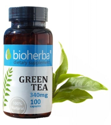 Bioherba Green tea 340 mg 100 capsules / Биохерба Зелен чай 340 мг 100 капсули
