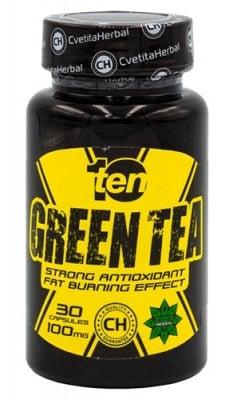Ten green tea 100 mg 30 capsules Cvetita Herbal / Тен Зелен чай 100 мг. 30 капсули Цветита Хербал