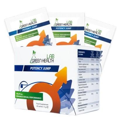 Green Health Lab Potency Jump 20 sacets / Грийн Хелт Потенси Джъмп - сашета за подобряване качеството на сексуалната функция 20 броя