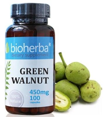 Bioherba Green Walnut 450 mg 100 capsules / Биохерба Зелен орех 450 мг. 100 капсули