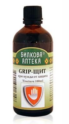 Tincture Flu shield 100 ml. / Тинктура Грип щит 100 мл. Билкова Аптека