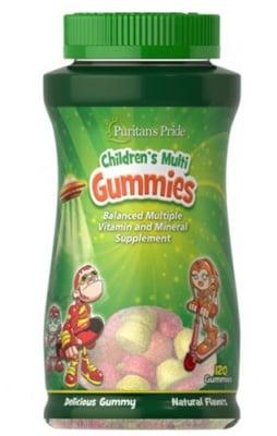 Puritan's Pride children's multi 120 gummies / Пуританс Прайд Мултивитамини и минерали за деца 120 желирани бонбони