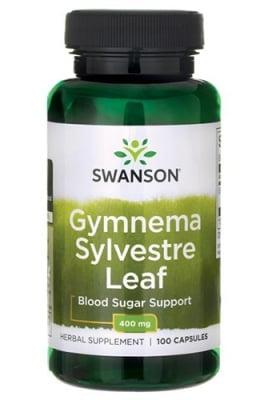 Swanson gymnema sylvestre 400 mg 100 capsules / Суонсън листа от Гимнема силвестре 400 мг. 100 капсули