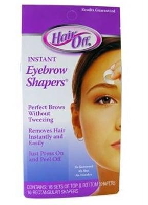 Hair off eyebrow shapers 18 pcs. Health Aid / Хеър офф ленти за оформяне на вежди 18 броя Хелт Ейд