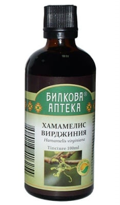 Tincture Hamamelis virginiana 100 ml. / Тинктура Хамамелис Вирджиния при хемороиди 100 мл. Билкова Аптека