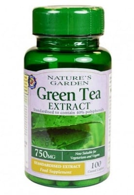 Green tea extract 750 mg 100 caplets Nature's Garden / Зелен чай екстракт 750 мг 100 каплети Nature's Garden