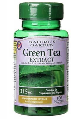 Green tea extract 315 mg 100 tablets Holland & Barrett / Зелен чай екстракт 315 мг 100 таблетки Holland & Barrett