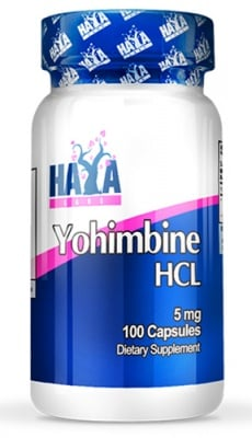 Haya Labs Yohimbine HCL 5 mg 100 capsules / Хая Лабс Йохимбин хидрохлорид 5 мг. 100 капсули