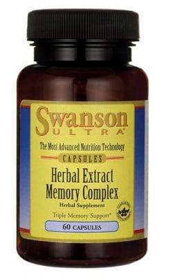 Swanson Herbal extract memory complex 60 capsules / Суонсън Билков комплекс за паметта 60 капсули