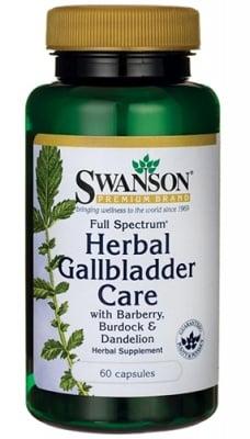 Swanson Herbal Gallbladder care 60 capsules / Суонсън Билкова Добавка за Здраве на жлъчката 60 капсули