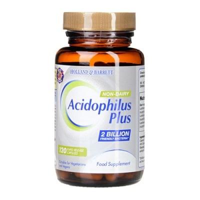 Acidophilus Plus 120 capsules Holland & Barrett / Ацидофилус Плюс безмлечен 120 капсули Holland & Barrett