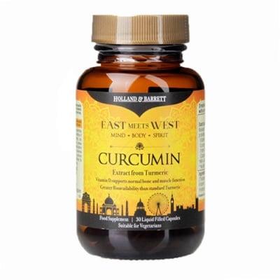 Curcumin 30 capsules Holland & Barrett / Куркумин 30 капсули Holland & Barrett