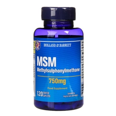 Methylsulphonylmethane (MSM) 750 mg. 120 coated caplets Holland & Barrett / Метилсулфонилметан (МСМ) 750 мг. 120 каплети Holland & Barrett