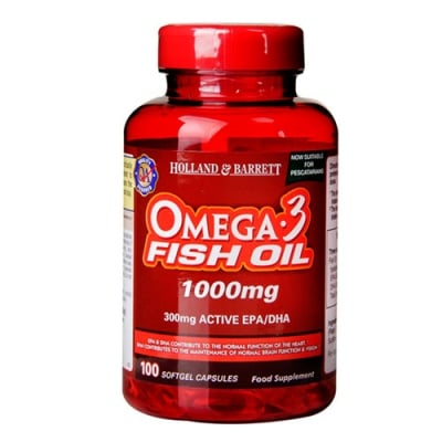 Omega 3 Fish Oil 1000 mg. 100 capsules Holland & Barrett / Омега 3 Концентрирано Рибено масло 1000 мг. 100 капсули Holland & Barrett