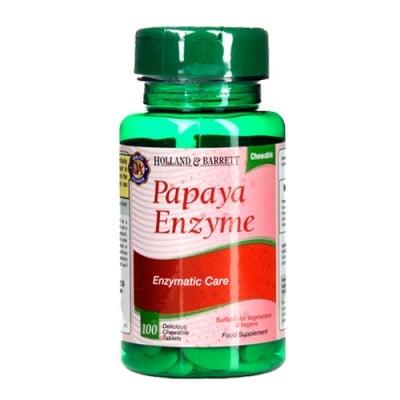 Papaya enzyme 100 chewable tablets Holland & Barrett / Папая ензими 100 дъвчащи таблетки Holland & Barrett
