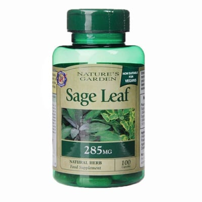 Sage Leaf 285 mg. 100 capsules Nature's Garden / Градински чай (Салвия) 285 мг. 100 капсули Nature's Garden