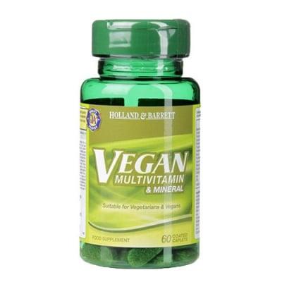Vegan Multivitamins & Minerals 60 tablets Holland & Barrett / Веган Мултивитамини и Минерали 60 таблетки Holland & Barrett