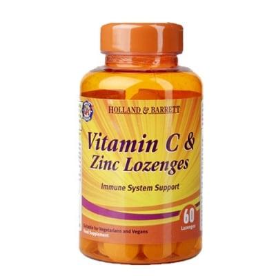 Vitamin C + Zinc 60 lozenges Holland & Barrett / Витамин Ц + Цинк 60 таблетки за смучене Holland & Barrett