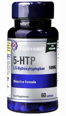 5 - HTP 50 mg 60 capsules Holland & Barrett / Пет-хидрокситриптофан 50 мг. 60 капсули Holland & Barrett